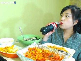 터민 매운닭갈비 + 떡만두국 먹방