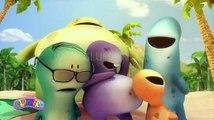 Glumpers, video divertido verano Un día en la playa, dibujos animacion infantil