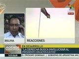 Franco Gamboa: Oposición ataca a Evo pues no tiene quien le compita