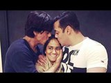 Shahrukh Khan - Salman Khan HUG And KISS At Arpita's Marriage   Latest Bollywood News