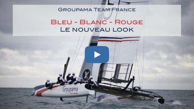 Groupama Team France navigue désormais en BLEU-BLANC-ROUGE