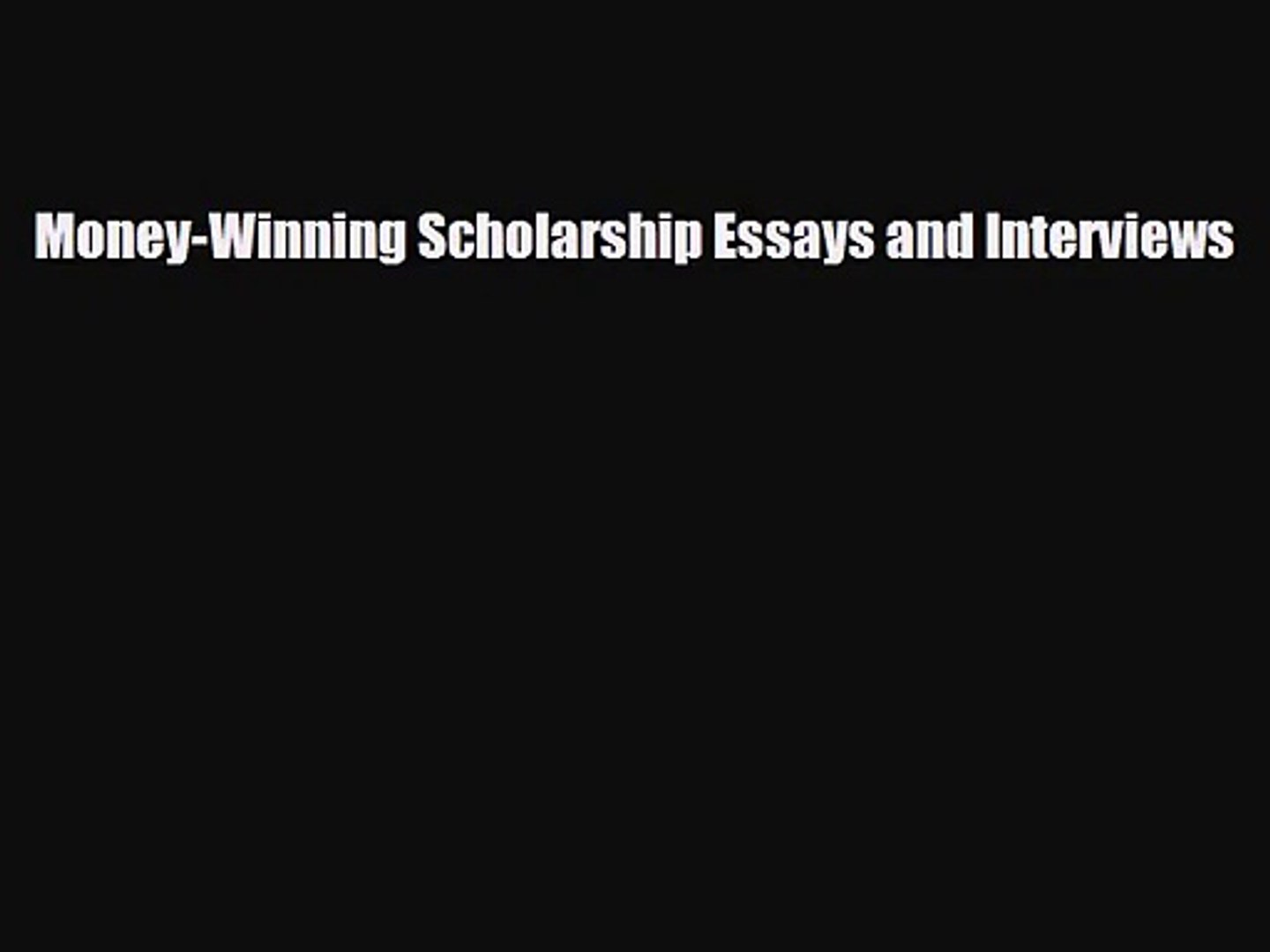 why do you deserve this scholarship sample essay