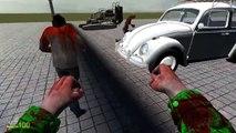 Gmod (Garrys Mod) ZOMBIE CAR RACE (Minecraft Mod)