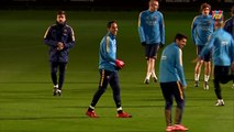 FCB training session: First training session of the year