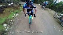 Descente en VTT impressionnante avec un vélo de route !