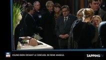 René Angélil mort : Les premières images de Céline Dion dévastée face au cercueil de son mari (Vidéo)
