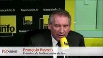 François Bayrou plus tendre avec Sarkozy qu'avec Hollande