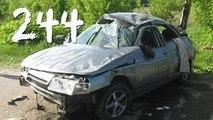 Compilación de Coche de los incidentes y Accidentes en la dashcam #244