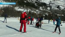 D!CI TV: les migrants de Briançon apprennent le ski de fond à Serre-Chevalier