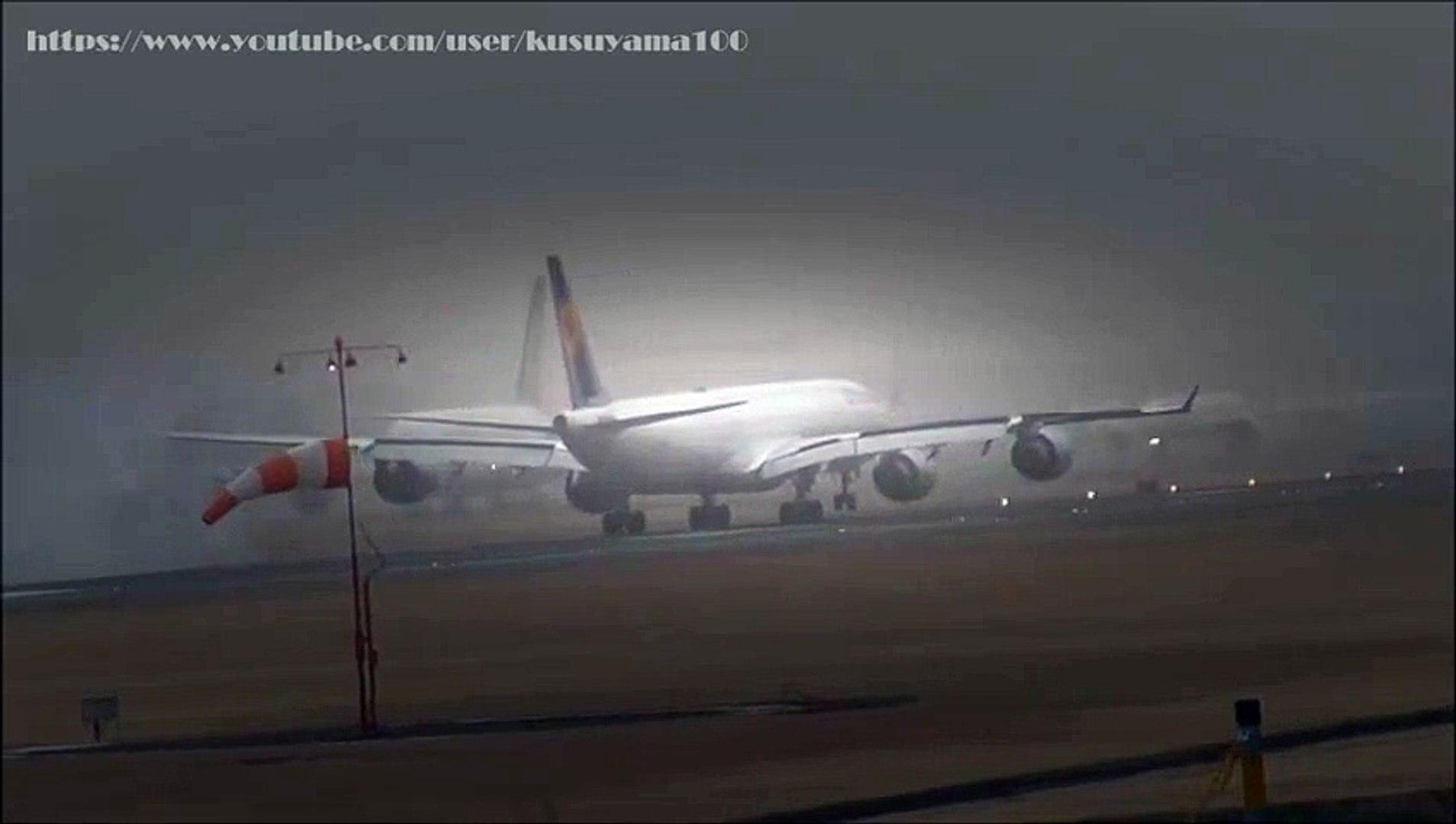 ☆ハードランディング☆壮絶横風着陸☆Strong Crosswind Hard landing at Narita Airport!!成田空港  Video Arts