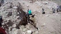 Backpackers get surprised by massive Landslide in Argentina!