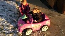 Sledding in the SNOW!!! KIDS fun, action!!! Snow sledding!!