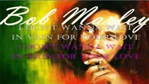 waiting in vain - Bob Marley - track and karaoke lyrics -pista y letra