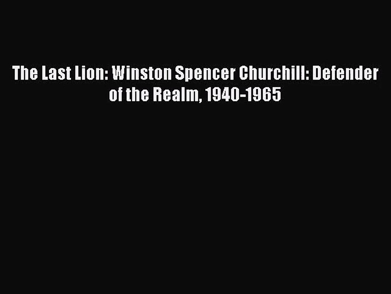 The Last Lion: Winston Spencer Churchill Box Set PDF Free Download