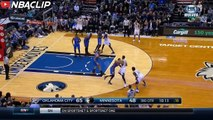 Andrew Wiggins tough and 1 play | Thunder vs Timberwolves | January 12 2016 | 2015-16 NBA SEASON