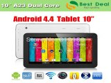 2014 Best Selling 10 inch Tablet PC Allwinner A23 Dual Core Cheap Tablet 10.1 1024*600 Capacitive Screen Bluetooth 1GB/8GB-in Tablet PCs from Computer