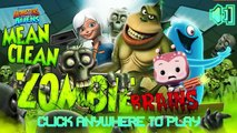 Monsters Vs Aliens Mean Clean Zombie Brains Full Gameplay- Monsters Vs Aliens Games