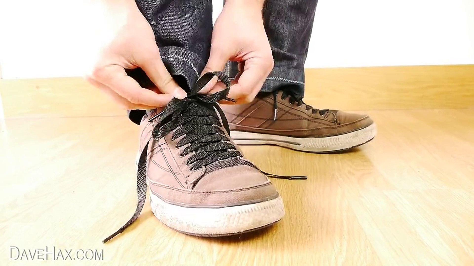 Tie your shoe laces magic trick