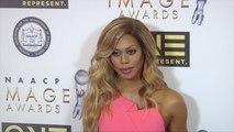 Laverne Cox Pretty in Pink 47th NAACP Image Awards Nominees' Luncheon Arrival