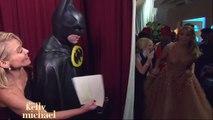 Jennifer Lopez clip from Oscars backstage on Live with Kelly & Michael 2 23 15