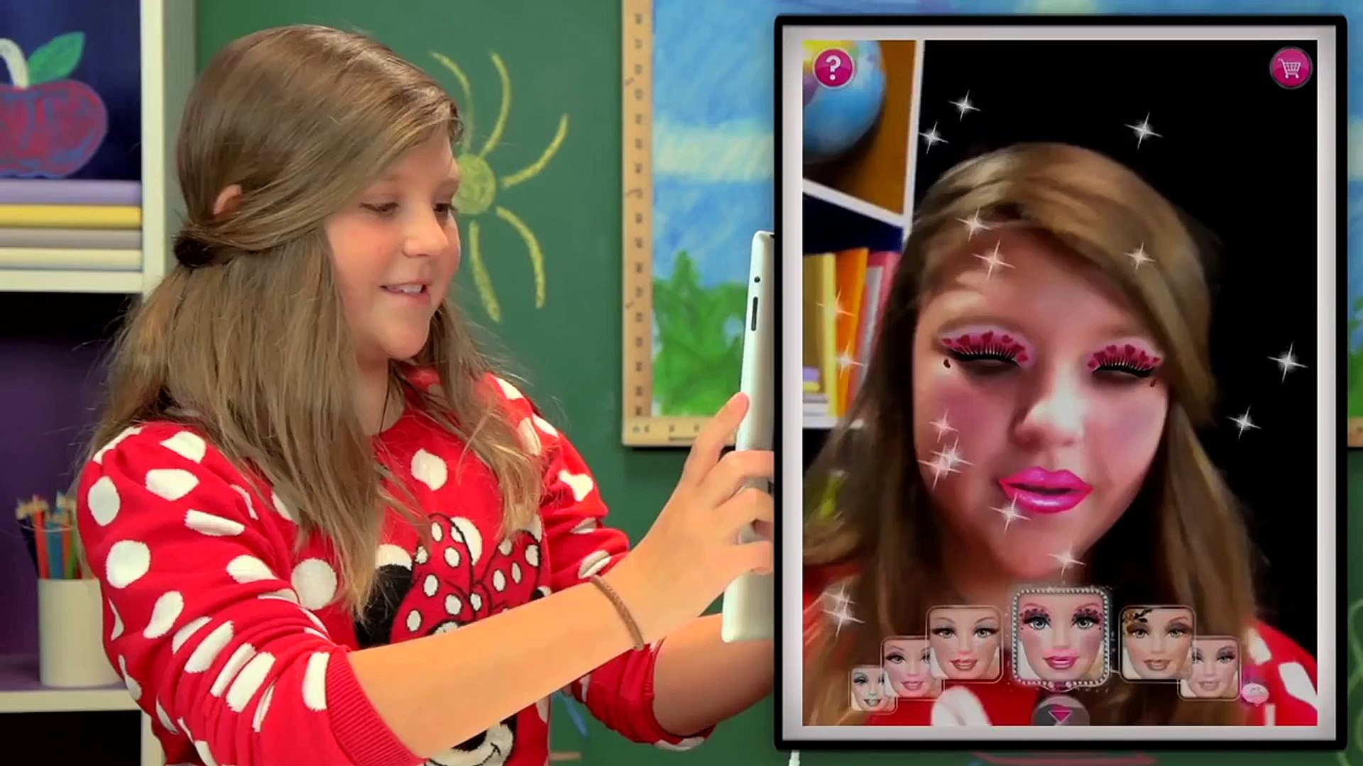 KIDS PLAY MAKEUP APPS?! (Kids React: Gaming)