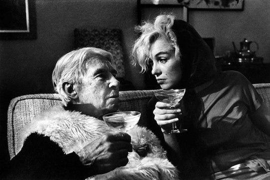 Marilyn Monroe and Carl Sandburg  20 January 1962.