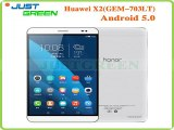 Huawei Mediapad Honor X2 GEM 703LT Hisillicon Kirin 930 Octa Core 2GB RAM 16GB ROM 13MP Dual SIM 4G LTE Android 5.0 Tablet PC-in Tablet PCs from Computer