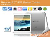 Reeder 9.7 IPS Air Retina 2048*1536 Screen Android 4.4 Tablet PC For Intel BayTrai Atom Z3735F Quad Core 16GB WIFI BT Tablets-in Tablet PCs from Computer