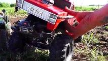 RC ADVENTURES - Backyard MUD Bog - Three 4x4 Scale Trail Trucks in a Mud Bath - 1/10 scale