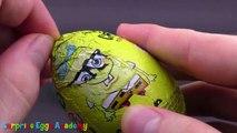 3 Surprise Eggs - Crocodile Gena and Cheburashka, Mickey Mouse, SpongeBob SquarePants