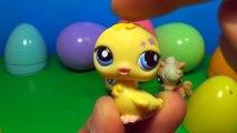 6 Littlest Pet Shop surprise eggs! LPS surprise eggs! Each egg holds a different lovable pet!
