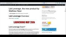 List Leverage Review - List Leverage by Matthew Neer - Better watch!