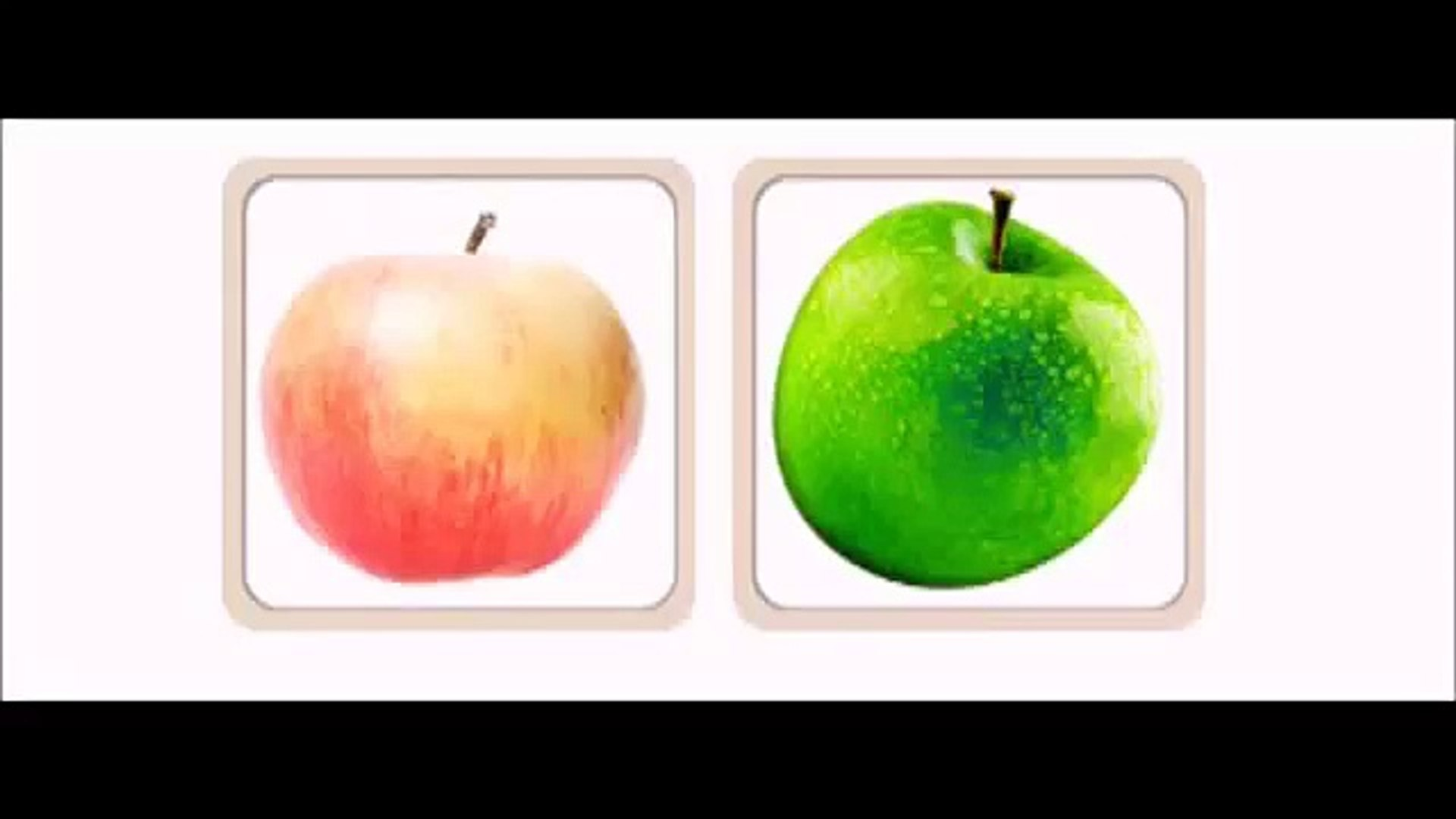 Развивающий мультфильм Изучаем фрукты и овощи