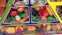 Food Pyramid Set Cooking Play Set Microwav Oven Toy Food Video Play Dod Food