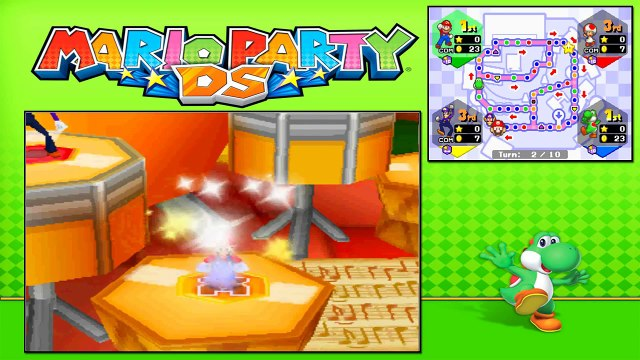 Mario Party DS - Story Mode - Part 33 - Toadettes Music Room (1/2) (Yoshi) [NDS]