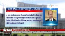 Colaborarea platformei D.A cu Igor Dodon și Renato Usatîi este o greșeală. Traian Băsescu, despre situaţia din R. Moldova