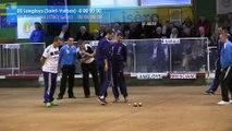 Mène 4, finale Bresciano contre Langloys, Super 16 masculin, Sport Boules, Saint-Egrève 2016