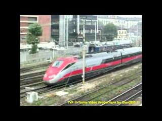 ESCi e Frecciarossa dal ponte, a Torino - Seeing Trains from the Bridge in Turin, Italy