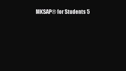 mksap for students 5 pdf free download