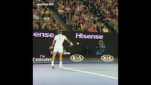 Yavaş çekim Federer!