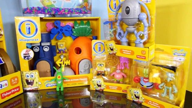 Play Doh Plankton Spongebob Squarepants Imaginext Playset Toys Super Unboxing - Disney Car