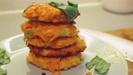Halloumi And Carrot Fritters