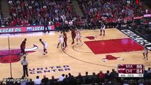 Dwyane Wade Seals the Game  Heat vs Bulls  January 25 2016  NBA 2015-16 Season