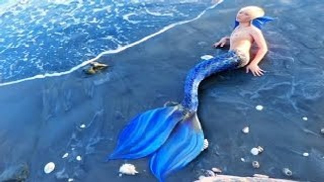 Real Male Mermaid Found Alive on Beach in Malaysia - Merman!! 2016