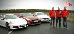 Comparativa: Porsche 911 contra BMW M4 Coupé y Nissan GT-R