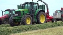 Silage 13 Trailed Lely Storm 130 John Deere 7530, Case IH 155,gtritchie5