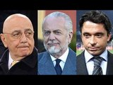 Napoli - Calcio e Fisco, accuse per Galliani, De Laurentiis e Moggi jr (26.01.16)