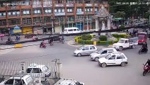 Nepal Earthquake Traffic Camera CCTV caught on camera April 25 2015 11:51 AM Tripureswor  Historical Earthquakes