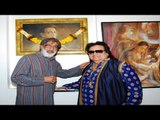 Bappi Lahiri Upstages Paintings at Art Exhibition