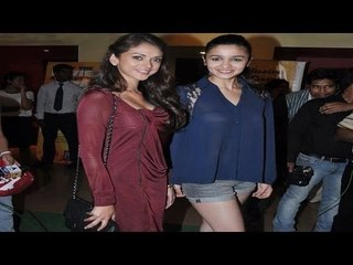 Hot Alia Bhatt and Aditi Rao Hydari at 'Murder 3' Special Screening